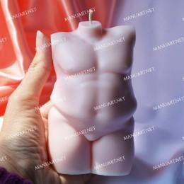 BIG Plus size Male nude torso 3D