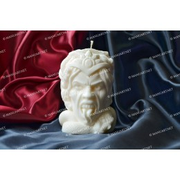 Silicone mold - Big Medusa Gorgon head 3D - for making soaps, candles and figurines