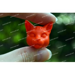 Silicone mold - MINI Mystical cat head 3D - for making soaps, candles and figurines