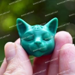 MINI Buddha cat head 3D