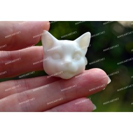 Silicone mold - MINI cat head 3D - for making soaps, candles and figurines