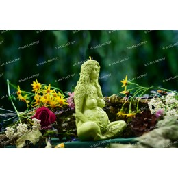 Silicone mold - Millennial Gaia Mother Earth Goddess 3D - for making soaps, candles and figurines