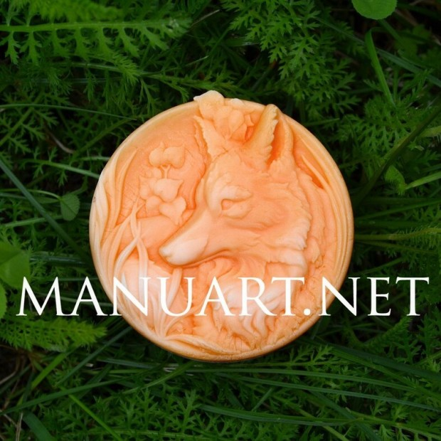 Silicone mold - Fox - for making soaps, candles and figurines