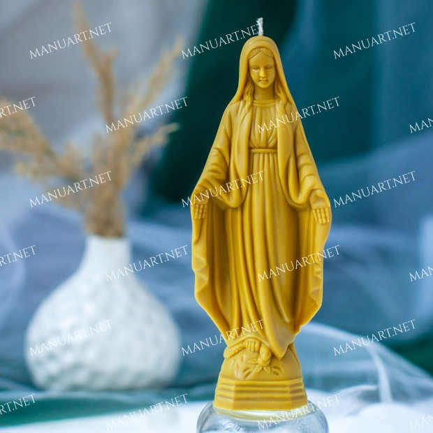 Silicone mold - Virgin mary 3D - for making soaps, candles and figurines