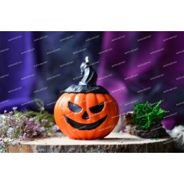Silicone mold - Witch pumpkin 3D - for making soaps, candles and figurines