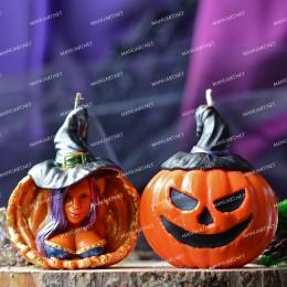Witch pumpkin 3D