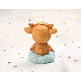 Silicone mold - Fawn on a cloud - for making soaps, candles and figurines