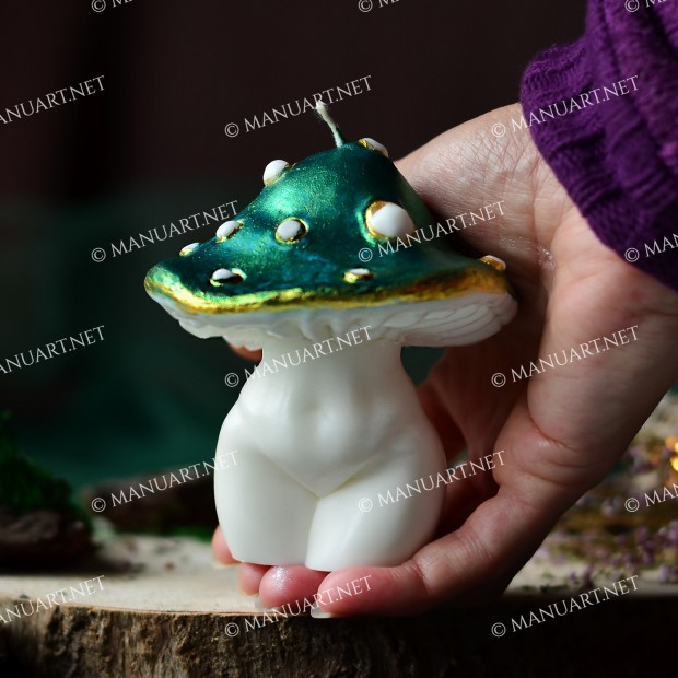 Silicone mold - Big Mushroom Goddess 3D - for making soaps, candles and figurines