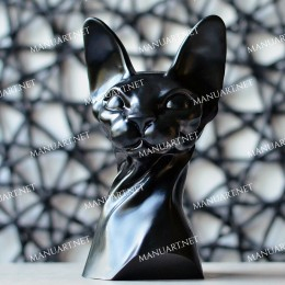 Sphynx Cat bust 3D