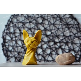 Silicone mold - Sphynx Cat bust 3D - for making soaps, candles and figurines