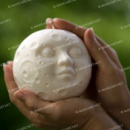 BIG Full moon sphere with face 3D