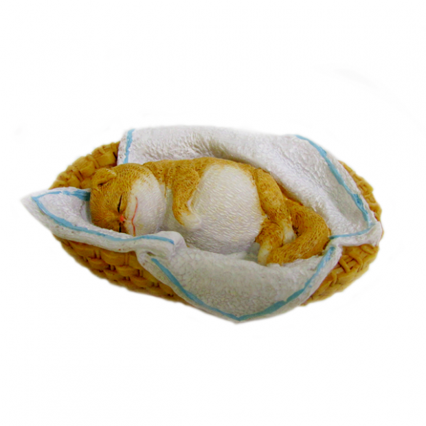 Silicone mold - Cat sleeps in a basket - for making soaps, candles and figurines