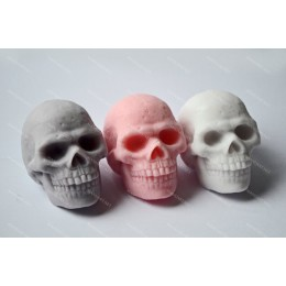 Silicone mold - Skull 3D - for making soaps, candles and figurines