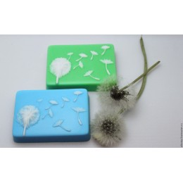 Silicone mold - Dandelion - for making soaps, candles and figurines
