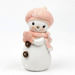 Silicone mold - Snowman girl in a hat and scarf - for making soaps, candles and figurines