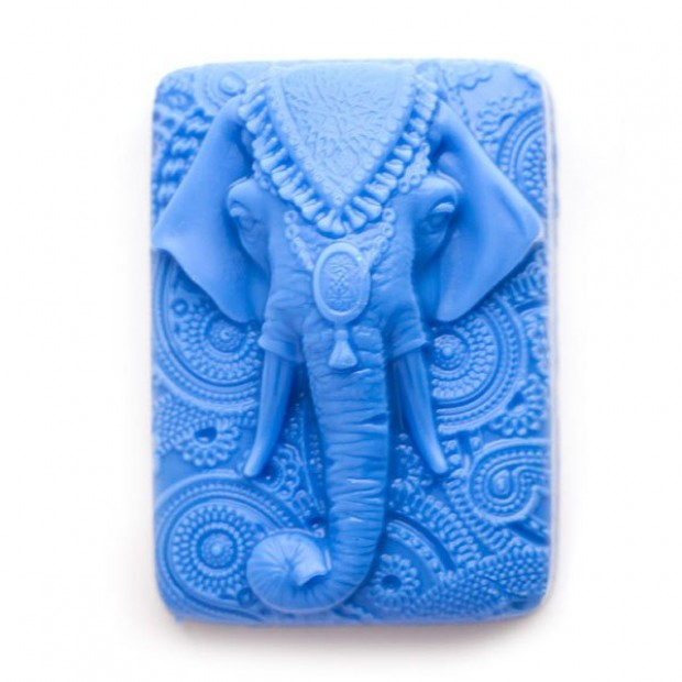 Silicone mold - Indian elephant - for making soaps, candles and figurines