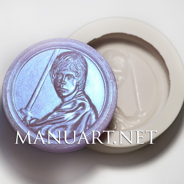 Silicone mold - Luke Skywalker - for making soaps, candles and figurines