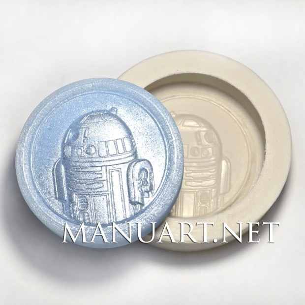Silicone mold - R2-D2 - for making soaps, candles and figurines